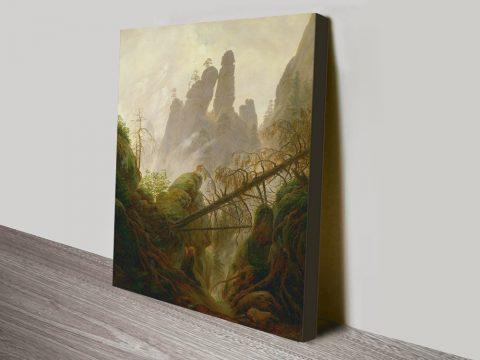 Rocky Landscape by Caspar David Friedrich