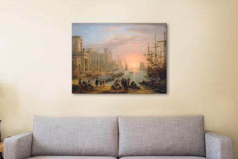 Seaport at Sunset Famous Classic Art Prints