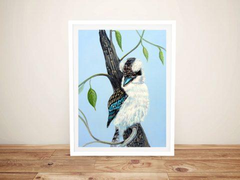Sitting Pretty Kookaburra Print on Canvas