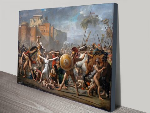 The Intervention of the Sabine Women Canvas Art Print