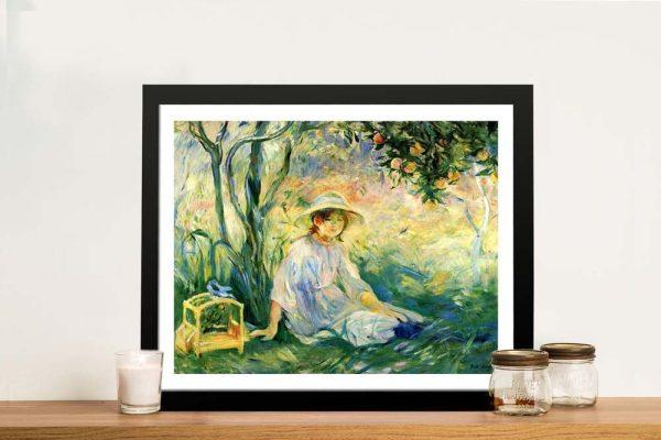 Buy a Framed Print of Under the Orange Tree