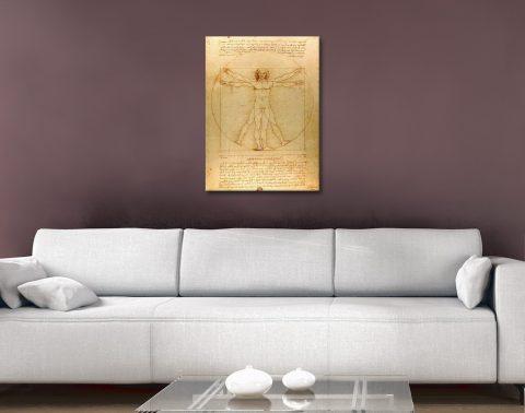 Vitruvian Man da Vinci Wall Art Gift Ideas AU