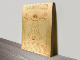 Da Vinci Vitruvian Man Canvas Wall Art