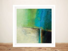 Framed Abstract Canvas Print of Water