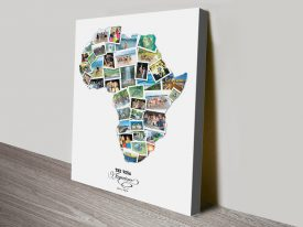 Africa Photo Collage Canvas Wall Art
