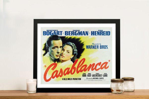 Casablanca Framed Movie Poster Print