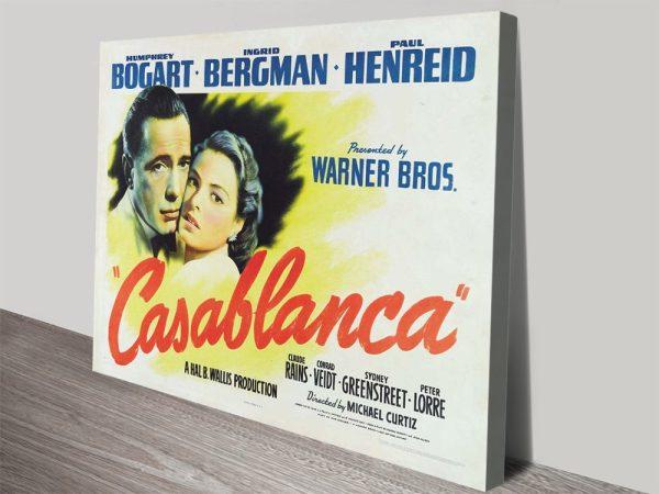 Casablanca Vintage Movie Poster Wall Art