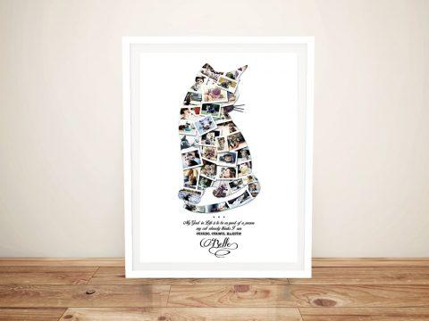 Framed Personalised Animal Shape Collage