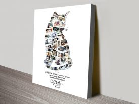 Cat Stretched Canvas Custom Photo Collage