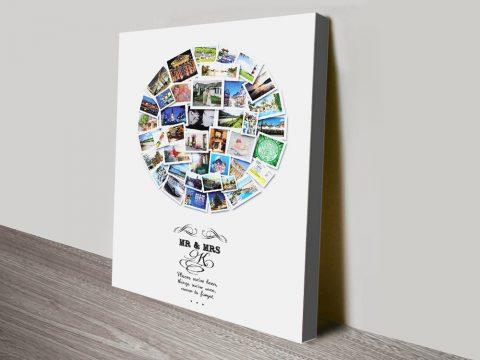 Custom Circular Photo Collage Artwork