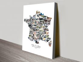 Map of France Custom Photo Collage