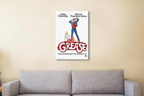Ready to Hang Grease Movie Poster Print AU