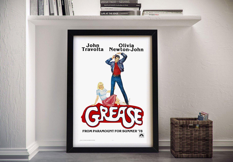 Grease Framed Vintage Movie Poster Online