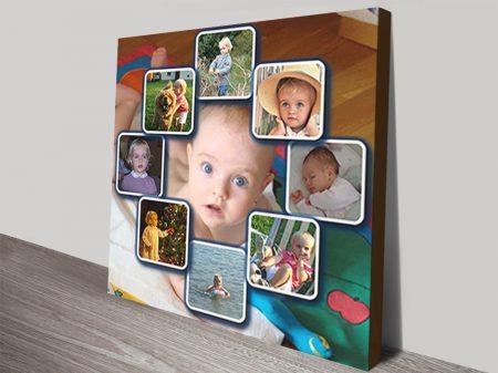 Diamond Shape Photo Background Collage