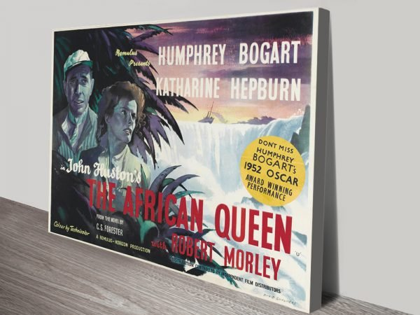 The African Queen Movie Poster Canvas Wall Art