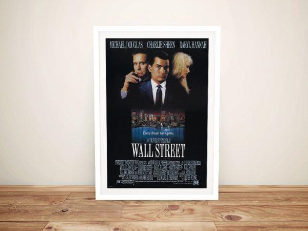 Wall Street Framed Movie Poster