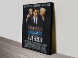 Wall Street Stretched Canvas Movie Poster