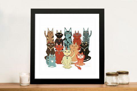 A Dozen Cats Framed Print Great Gift Ideas