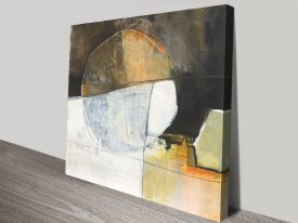 Stretched Canvas Print of Abstract Pebble III