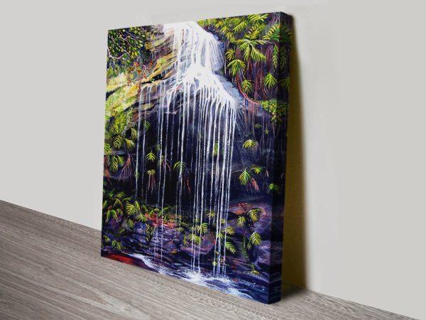 Adelina Falls Landscape Canvas Wall Art