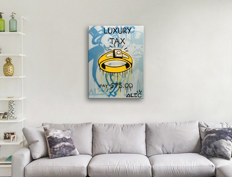 Alec Monopoly Luxury Tax canvas artwork