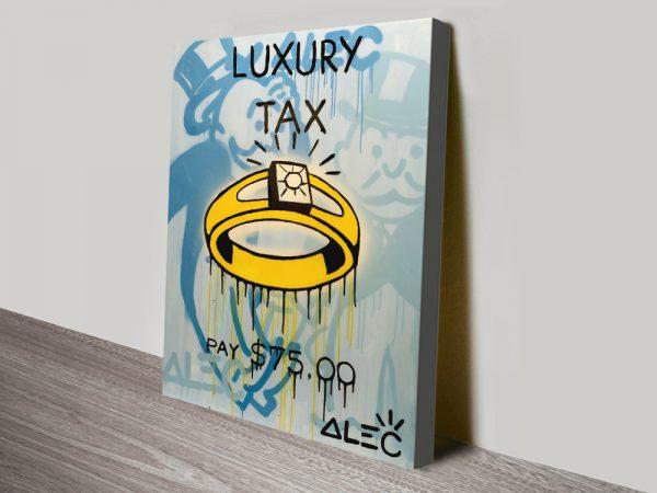 Alec Monopoly Luxury Tax canvas print