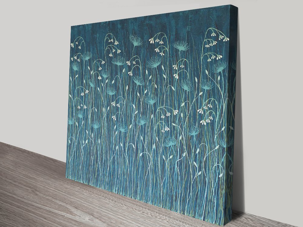 Stretched Canvas Abstract Floral Art AU