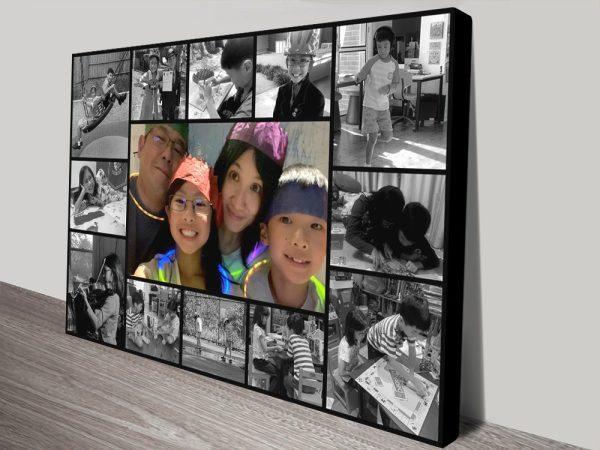 Black & White Design Photo Collage Art