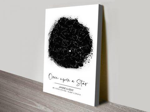 Black & White Personalised Star Chart