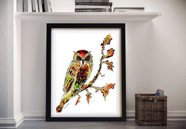 Brown Owl Framed Print on Canvas