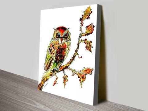 Brown Owl Linda Callaghan Canvas Art