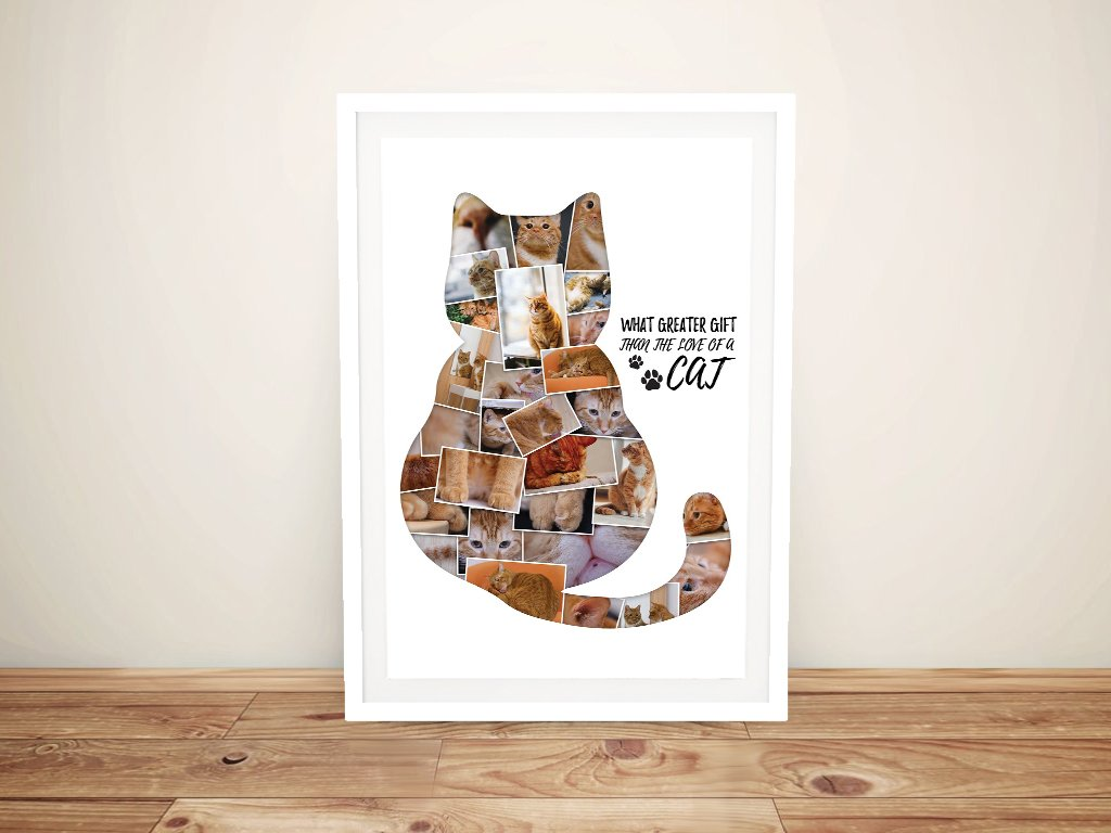 Personalised Cat Photo Collage Wall Art