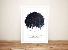 City Skyline Design Custom Star Map Art