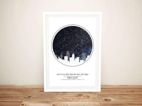 City Skyline Design Custom Star Map Art