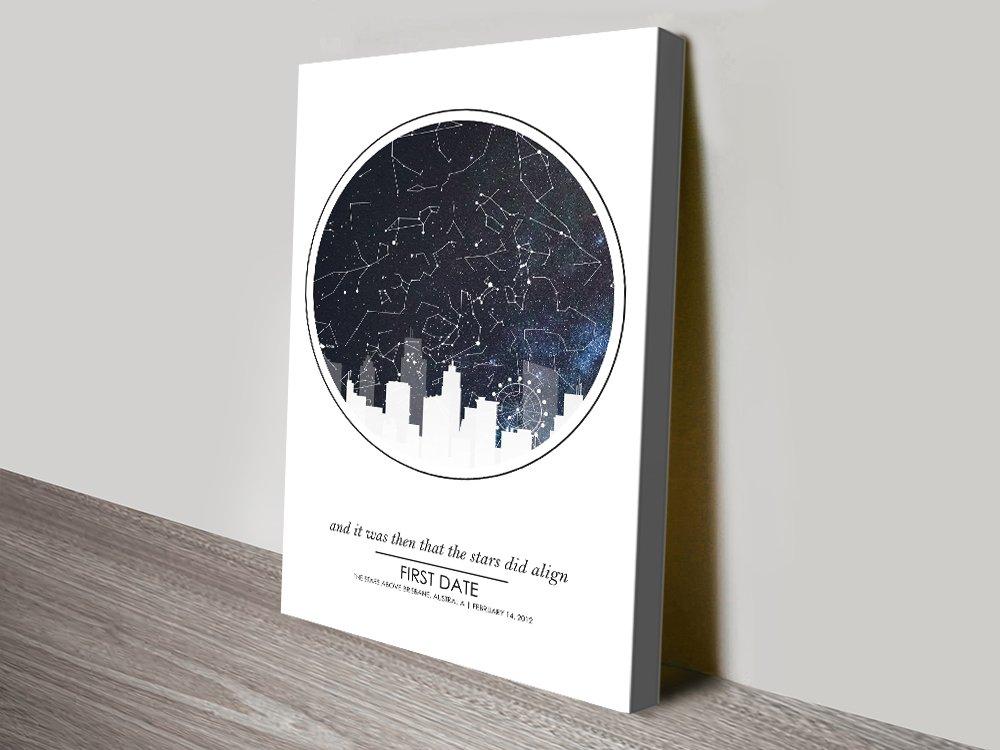 Personalised Star Maps in Various Designs
