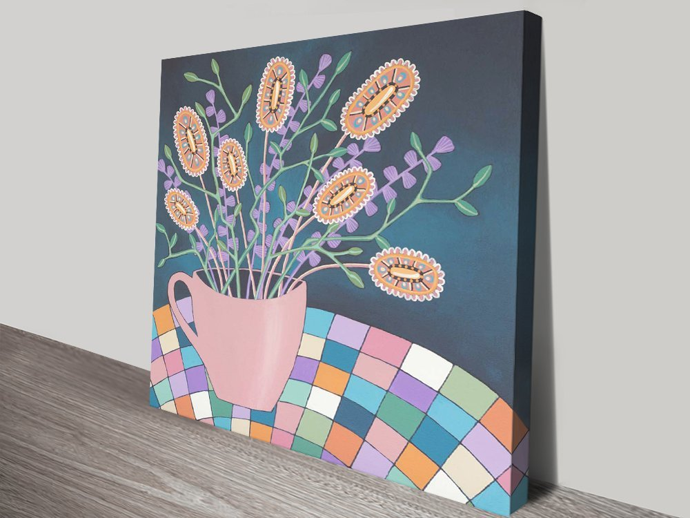 Cup of Joy Stretched Canvas Wall Art