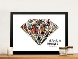 Diamond Shape Photo Collage Wall Art