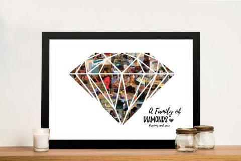 Diamond Shape Photo Collage Wall Art