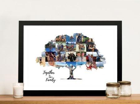 Family Tree Framed Photo Collage Art