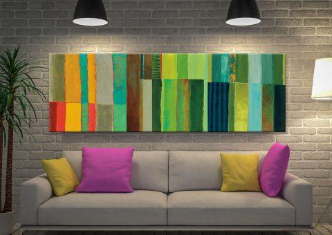 Jane Davies Panoramic Abstract Art for Sale