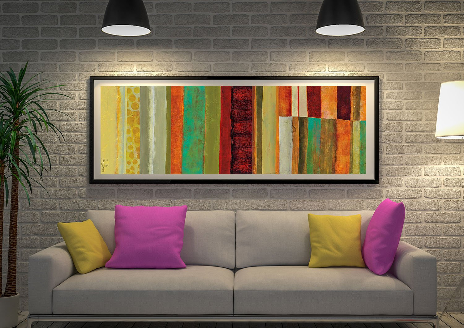 Fields of Colour V Panoramic Canvas Art