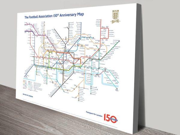 Football Legends Tube Map Wall Art