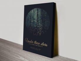 Fairy Tale Forest Custom Star Map Art