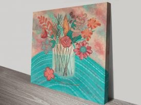 Gentle Blooms Floral Still Life Canvas Art
