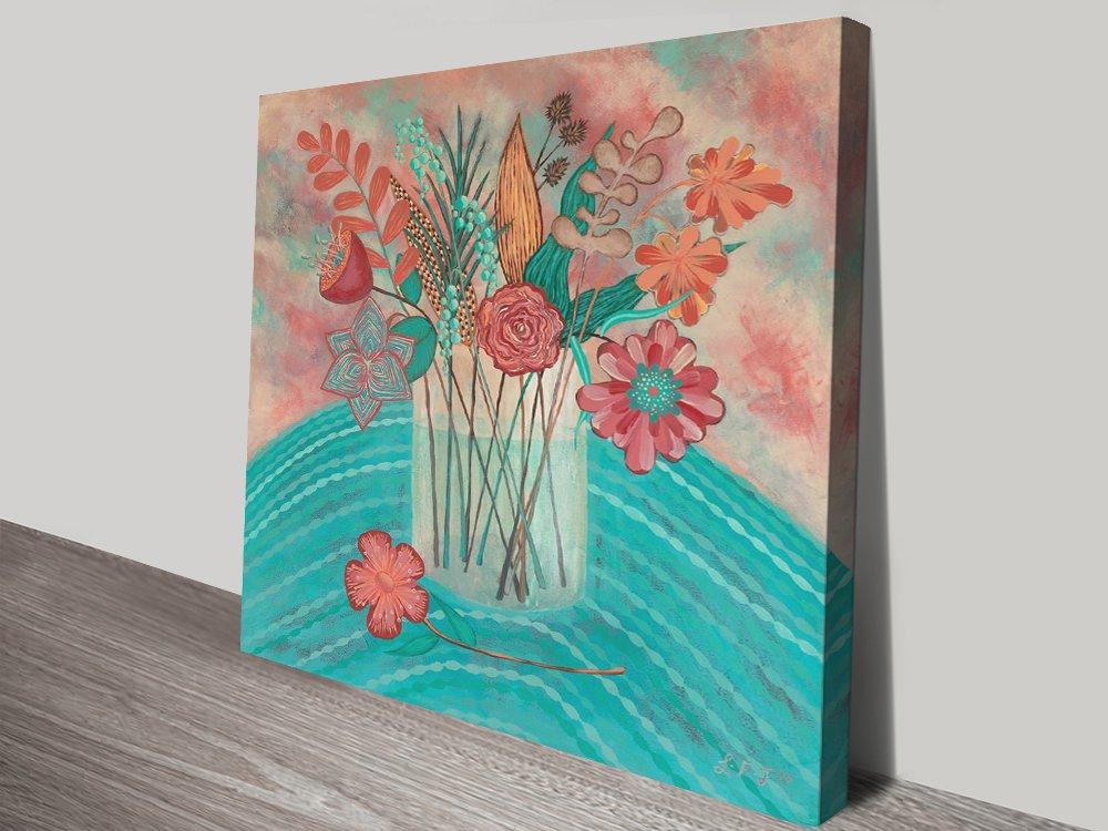 Gentle Blooms Floral Still Life Canvas Art