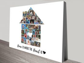 Buy a House or Home Photo Collage Print
