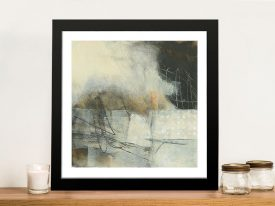 Framed Print on Canvas of In the Clouds I