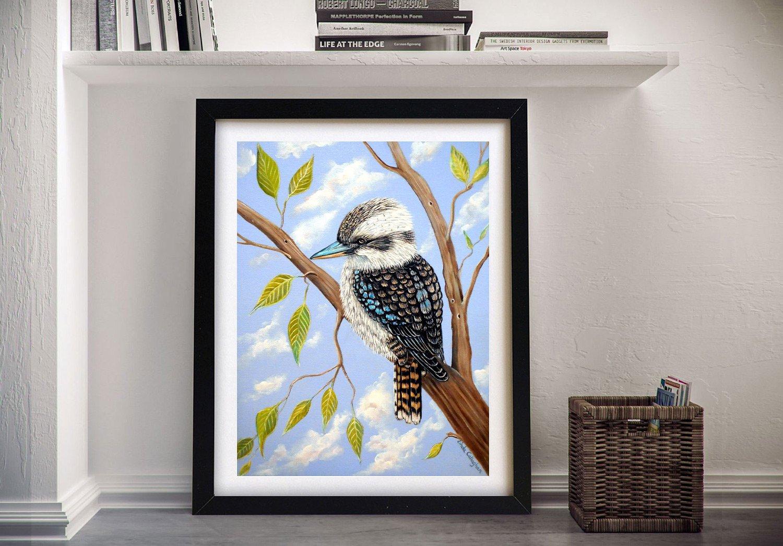 Framed Linda Callaghan Kookaburra Art AU