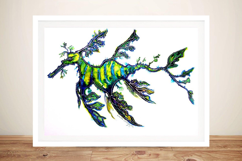 Leafy Sea Dragon Watercolour Wall Art