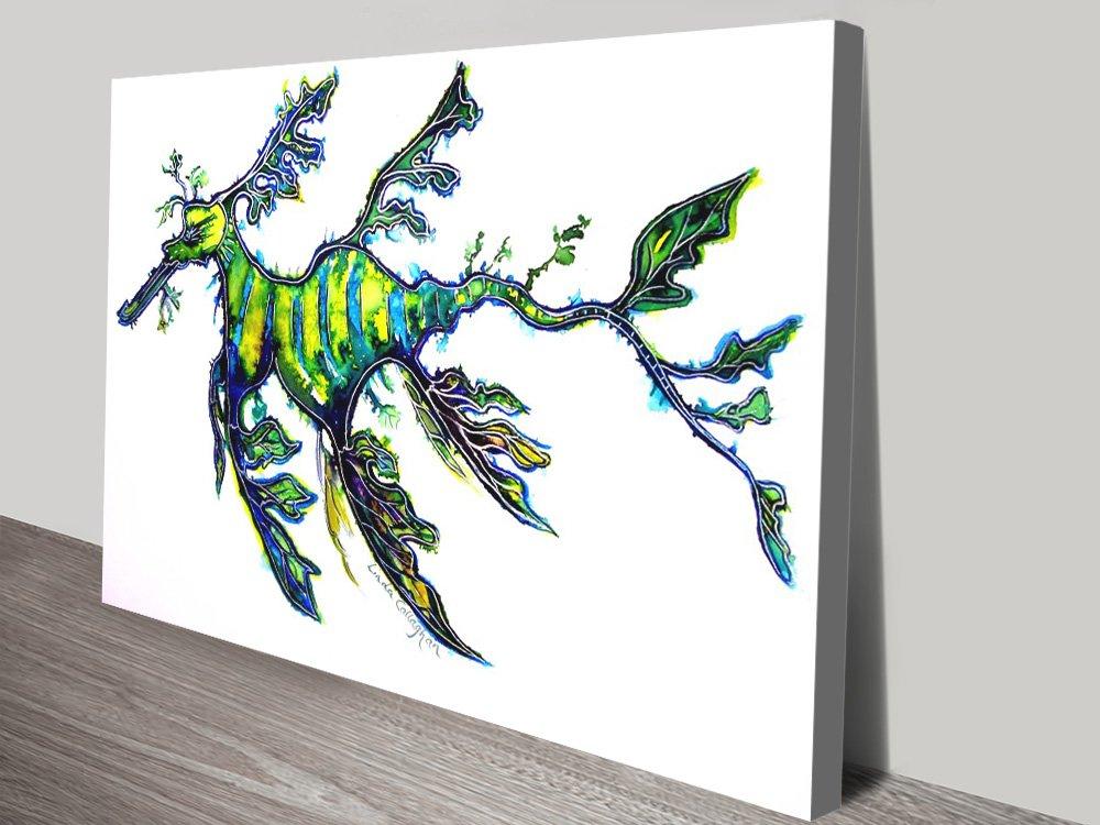 Leafy Sea Dragon Affordable Canvas Art